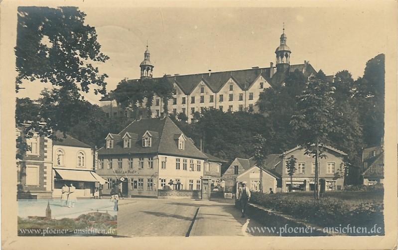Blick auf Schloss-Hotel zur Post