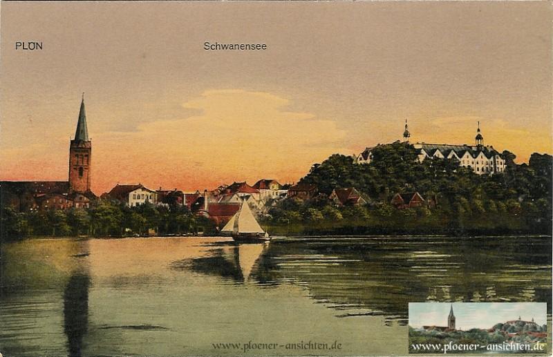 Sonnenuntergang am Schwanensee