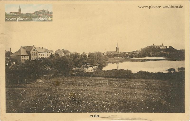Plöner Ansicht mit Schloss und Kirche