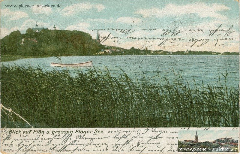 Blick auf Plön und Großen Plöner See 1905