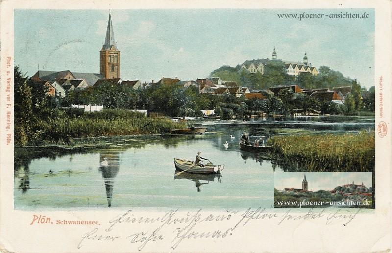 Ruderboote auf dem Schwanensee