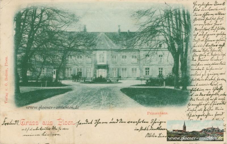 Gruss aus Plön - Prinzenhaus 1899