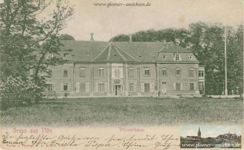 Gruss aus Plön - Prinzenhaus 1904