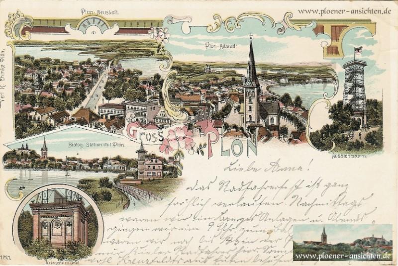 Gruß aus Plön mit Neustadt und Altstadt