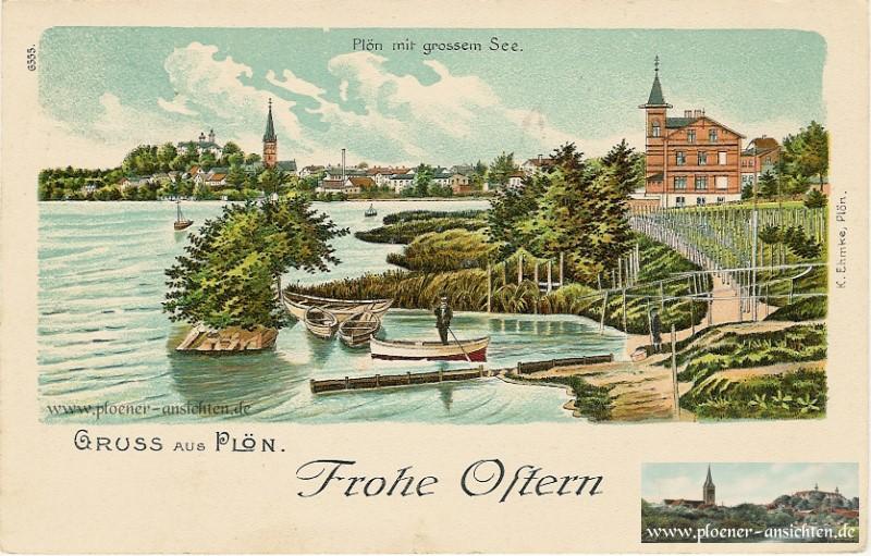 Jugendstilkarte aus Plön: Frohe Ostern