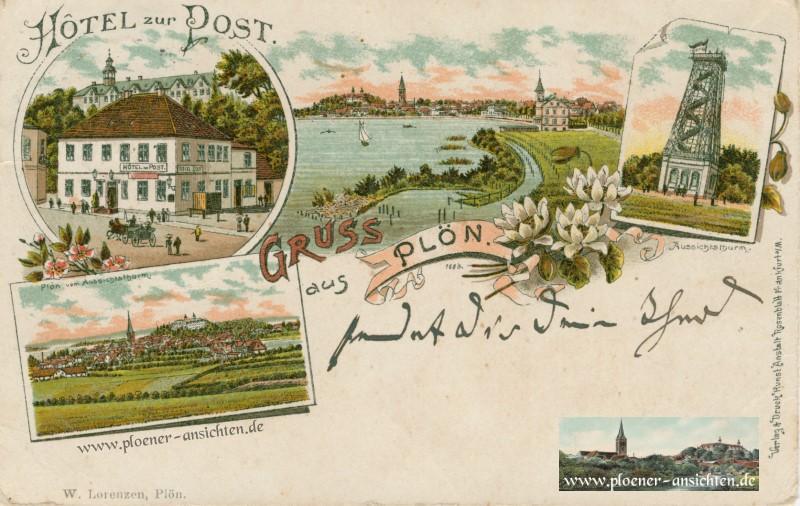 Jugendstil-Ansicht- Hotel zur Post