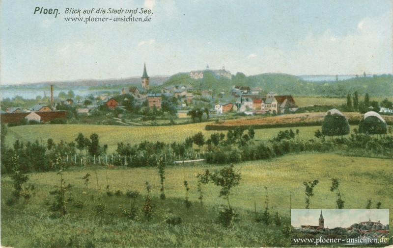 Plön - Blick auf die Stadt und See