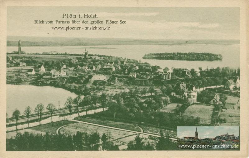 Plön i. Holst. - Blick vom Parnass über den großen Plöner See