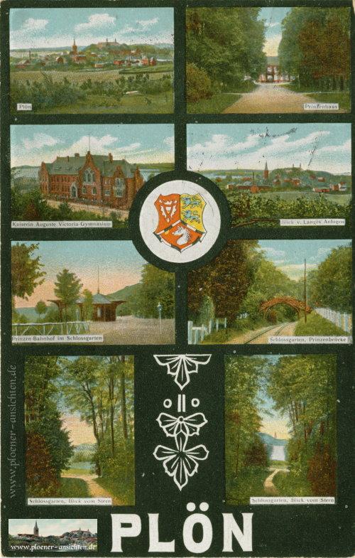 Plön - Mehrmotivansicht mit Wappen