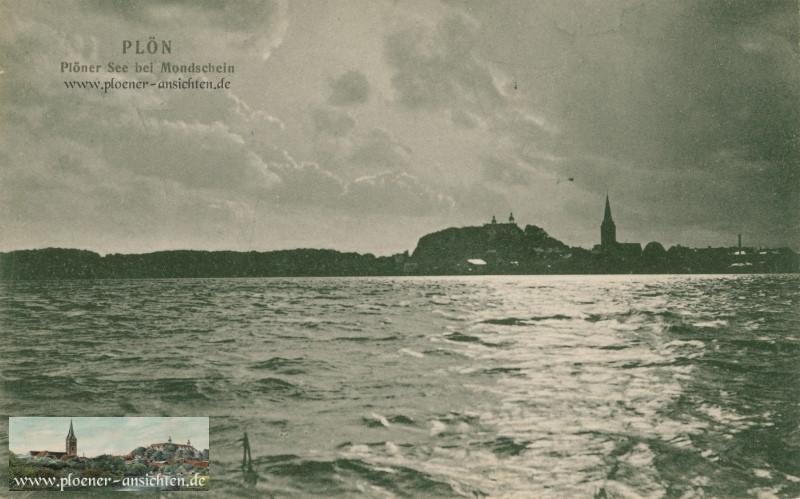 Plöner See bei Mondschein 1909
