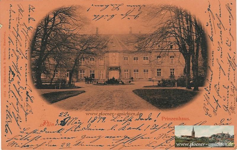 Prinzenhaus - Foto auf rotem Karton