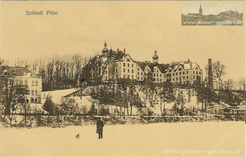 Schloss Plön historische Winteransicht