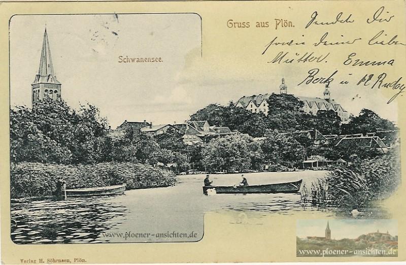 Gruss aus Plön - Schwanensee