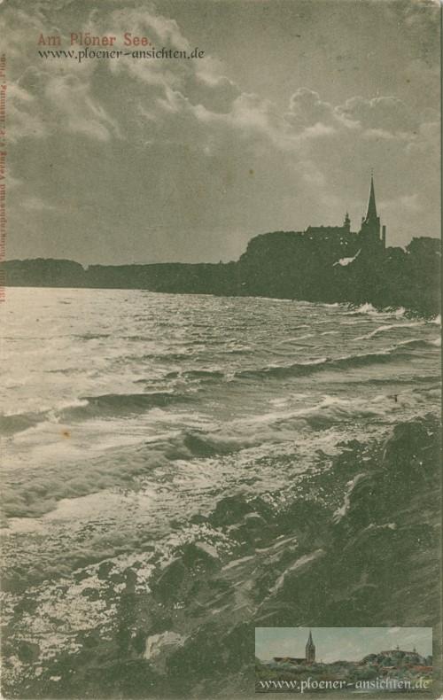 Am Plöner See - Mondscheinkarte von 1898