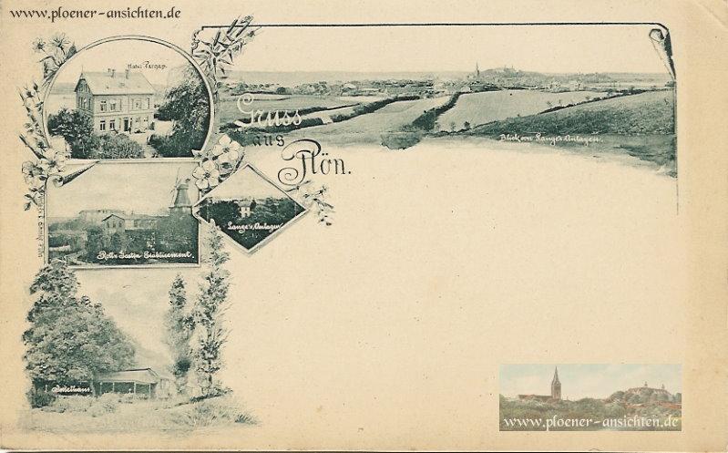 Jugendstil-Karte aus Plön - SW