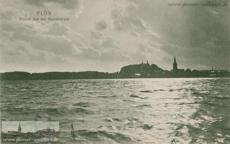 Plön - Plöner See bei Mondschein