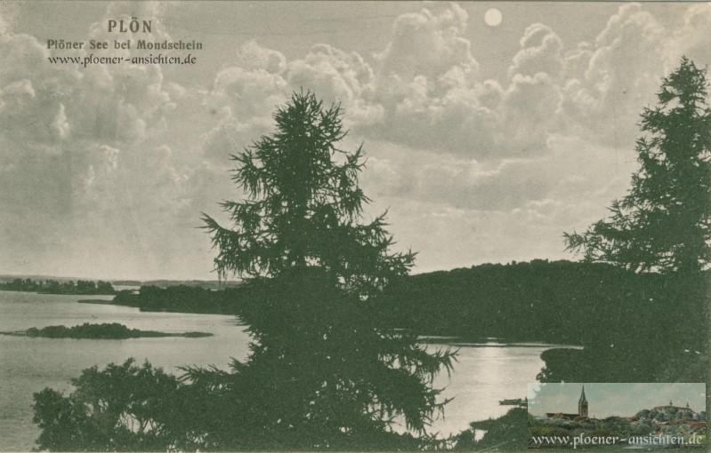 Plöner See bei Mondschein