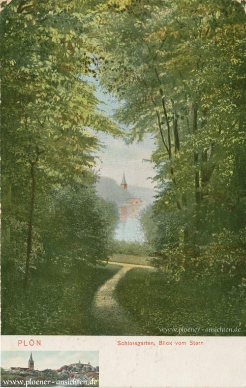 Plöner Schlossgarten: Blick vom Stern