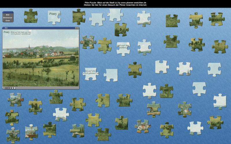 Plön-Puzzle: Blick auf die Stadt