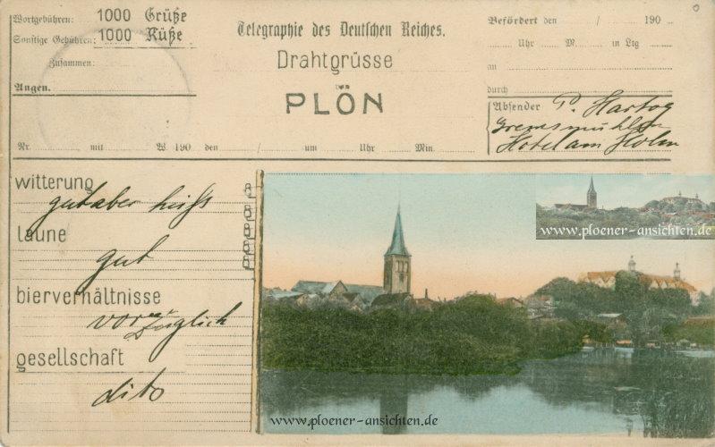 Drahtgrüße von Plön 1891