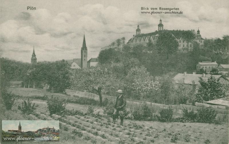 Plön - Blick vom Rosengarten