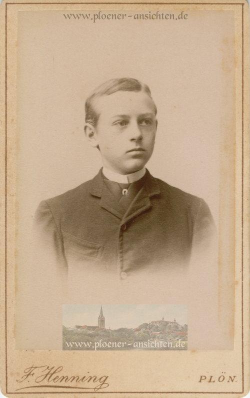 Kabinettfoto Porträt Mann des Fotografen F. Henning, Plön