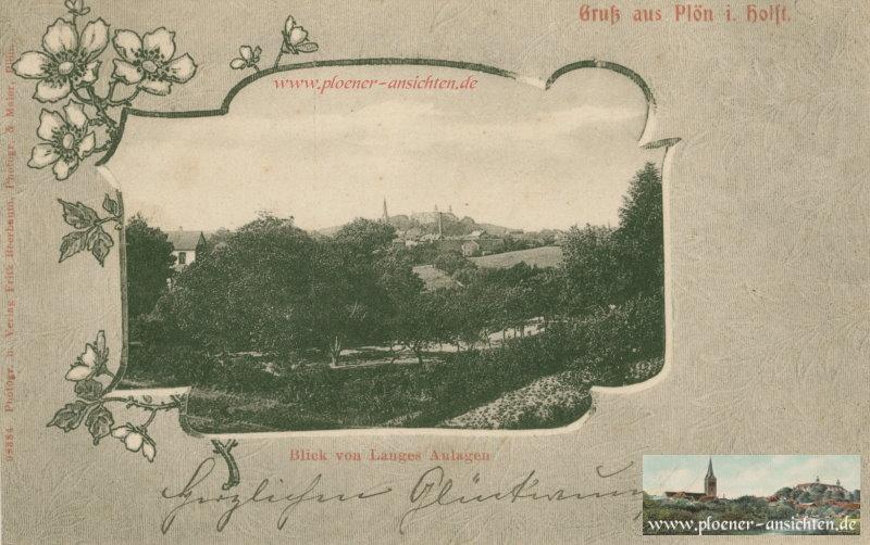Gruß aus Plön i. Holst. - Blick von Langes Anlagen - 1910