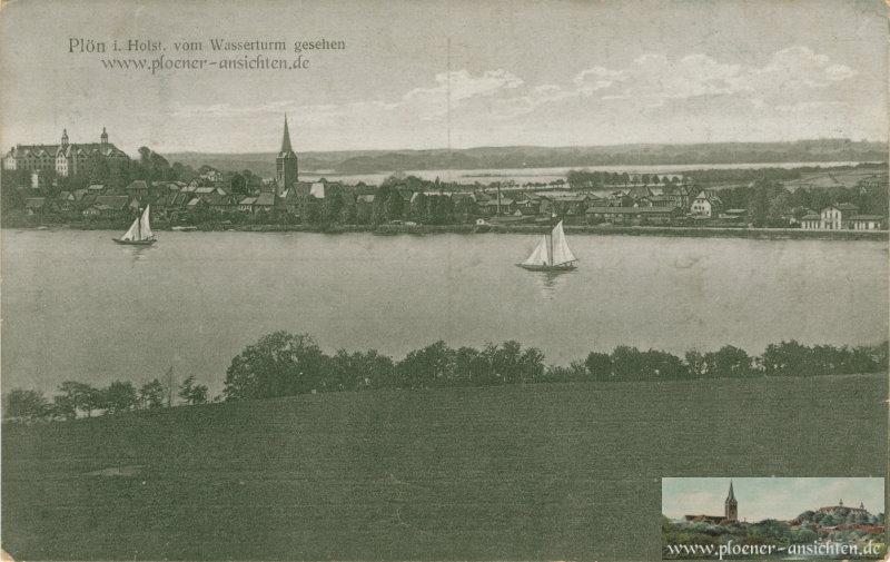 Plön i. Holst. vom Wasserturm gesehen - 1919