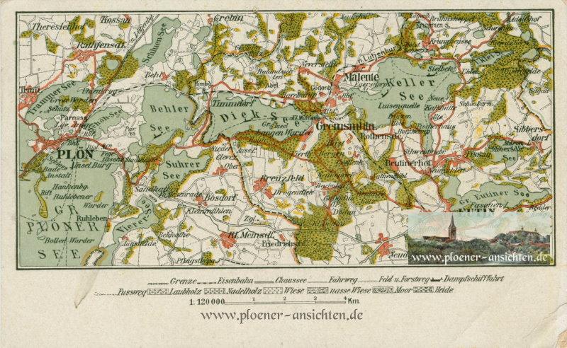 Plön - Landkarte 1919