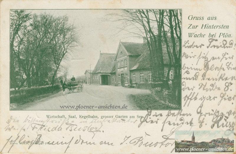Gruß aus Zur Hintersten Wache bei Plön - 1904
