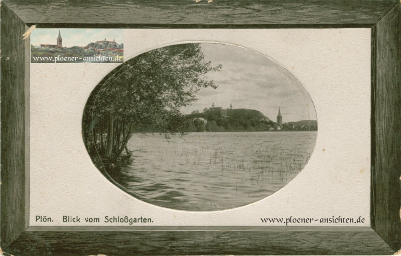 Plön - Blick vom Schloßgarten - 1913