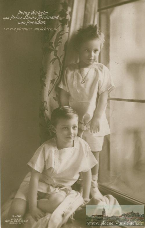 Prinz Wilhelm und Prinz Louis Ferdinand von Preußen - 1911