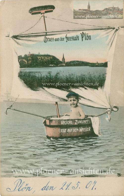 Gruss aus der Seestadt Plön - 1907