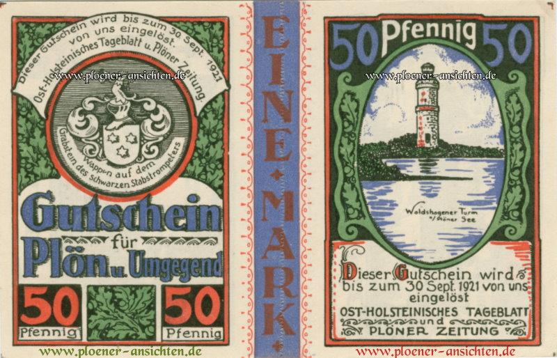 Gutschein für Plön und Umgebung - 50 Pfennig - waagrecht