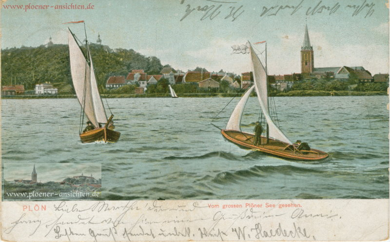 Plön - Vom großen Plöner See gesehen - 1905