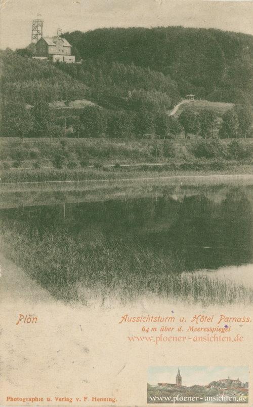 Plön - Aussichtsturm und Hotel Parnass - 1902