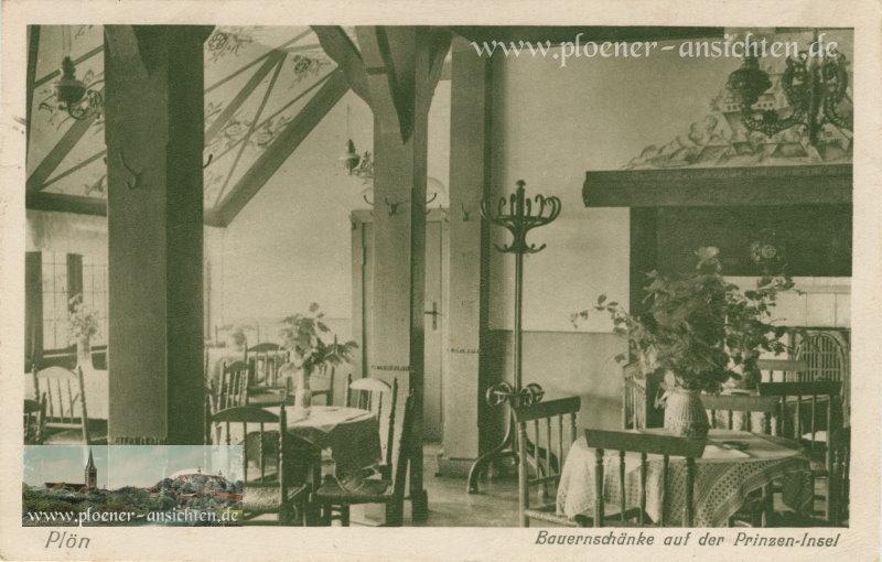 Plön - Bauernschänke auf der Prinzen-Insel - 1928