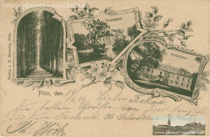 Plön - Schlossgarten und Prinzenhaus - 1901
