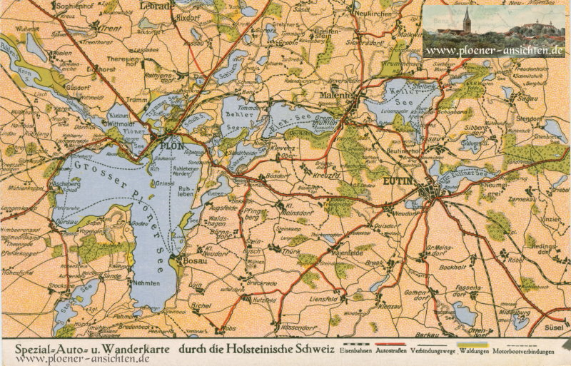 Spezial-Auto- und Wanderkarte durch die Holsteinische Schweiz