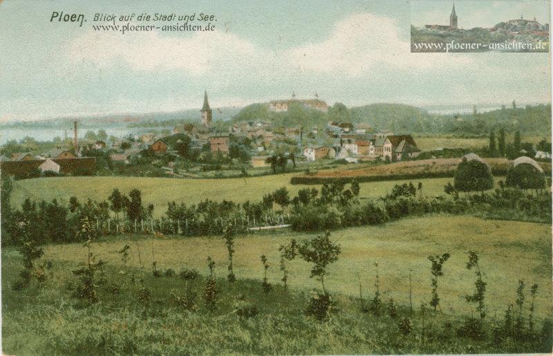 Ploen - Blick auf die Stadt und See