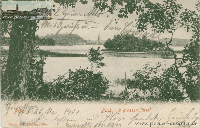 Plön - Blick v. d. grossen Insel - 1901